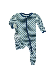 Kickee Pants Baby Pistachio Footie - Front cropped