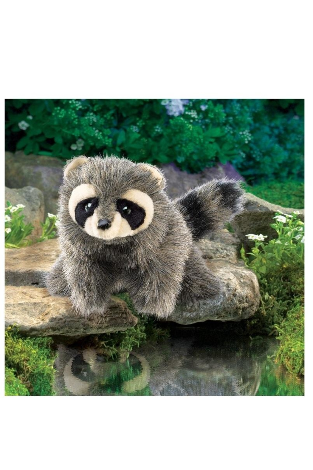 Folkmanis Baby Raccoon Puppet - Front Full Image
