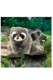Folkmanis Baby Raccoon Puppet - Front full body