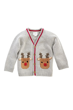 MudPie Baby Reindeer Cardigan - Alternate List Image