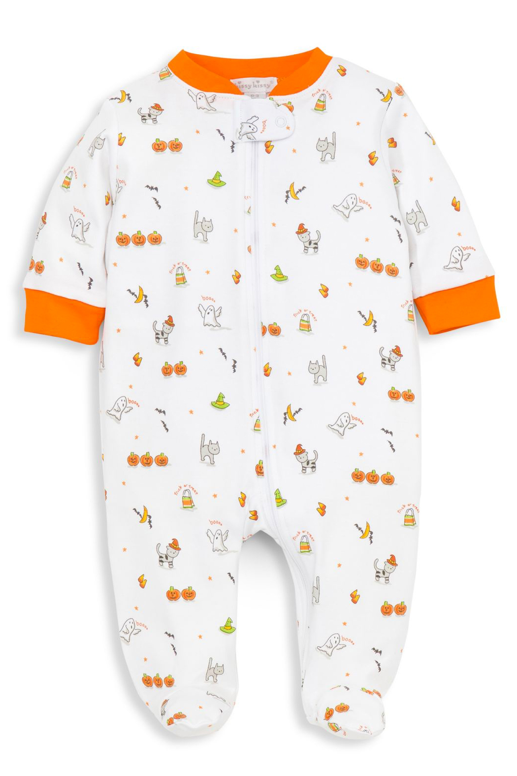 Kissy Kissy Baby's Bewitched Zip Footie - Main Image