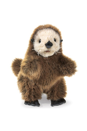 Folkmanis Baby Sea Otter Hand Puppet - Front cropped