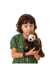 Folkmanis Baby Sea Otter Hand Puppet - Side cropped