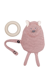 Wooly Organic BABY SHEEP WOODEN TEETHER - Front cropped
