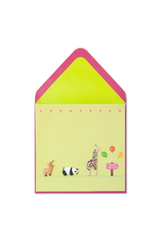 Papyrus Baby Shower Animals Card - Front cropped