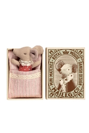 Maileg Baby Sleepy-Wakey Mouse - Front cropped