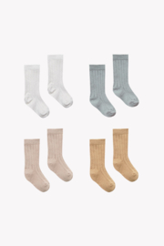 Quincy Mae Baby Socks 4 Pack Organic Ribbed Knit - Product Mini Image