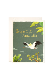 JooJoo Paper Baby Star Card - Front cropped