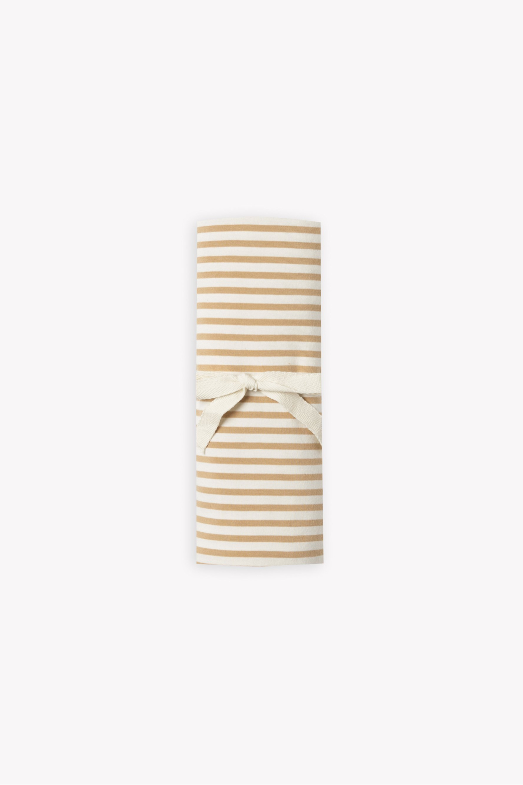 Quincy Mae Baby Swaddle in Honey Stripe - Main Image