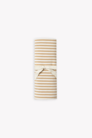 Quincy Mae Baby Swaddle in Honey Stripe - Product Mini Image