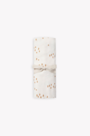 Quincy Mae Baby Swaddle in Ivory Tree Print - Product Mini Image