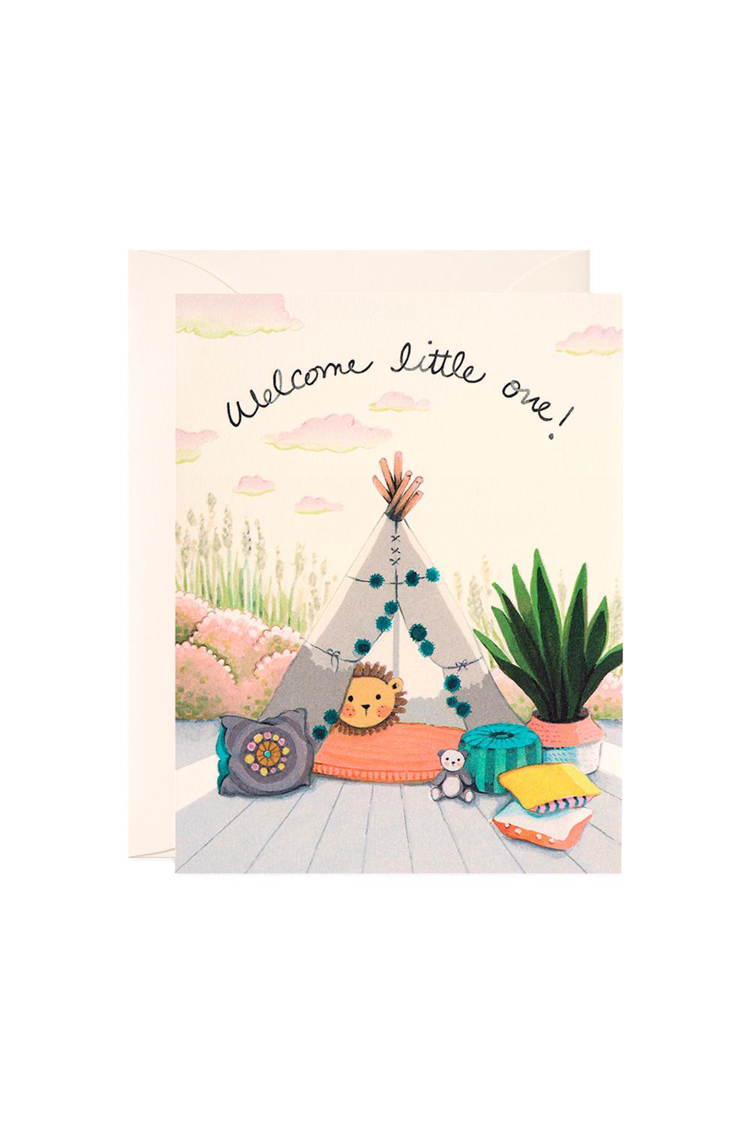 JooJoo Paper Baby Teepee Card - Front Cropped Image