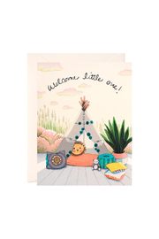 JooJoo Paper Baby Teepee Card - Front cropped