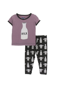 Shoptiques Product: Baby Tuscan-Cow Pajamas