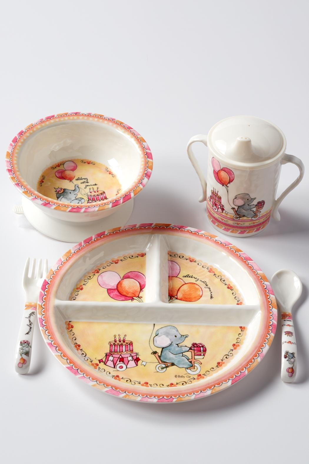 Baby Cie Childrenu0027s Plate Set - Front Cropped Image  sc 1 st  Shoptiques & Baby Cie Childrenu0027s Plate Set from North Carolina by Rollyu0027s Baby ...
