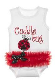 Baby Ganz Cuddle Bug Onesie - Product Mini Image