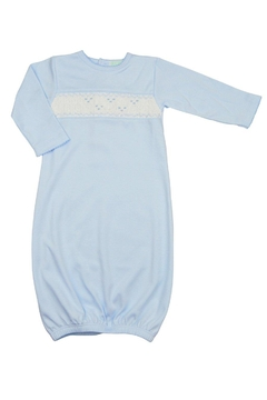 Baby Threads Blue Smocked Gown - Alternate List Image