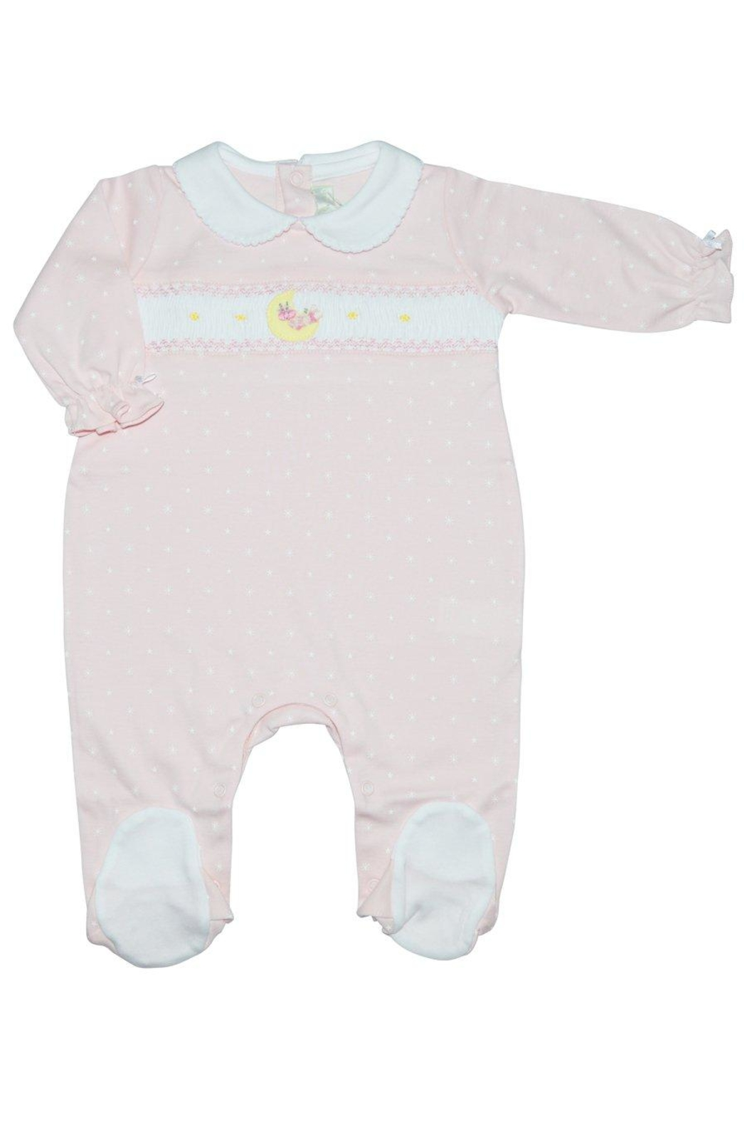 Baby Threads Moon Girl Footie - Front Cropped Image