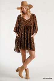 Umgee Babydoll Animal Print Dress - Product Mini Image