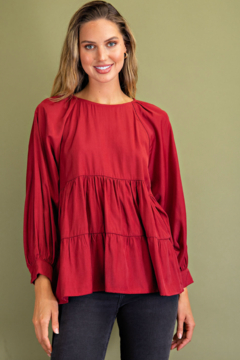 Glam Babydoll Blouse - Product List Image