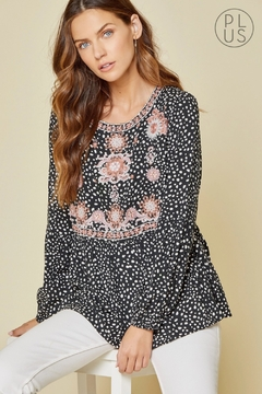 Shoptiques Product: Babydoll Embroidered Dalmatian