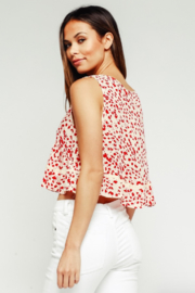 Olivaceous Babydoll Ruffle Top - Side cropped