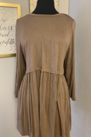 Kindred Mercantile  Babydoll Taupe Top - Product Mini Image