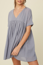 Listicle Babydoll Tunic Dress - Side cropped