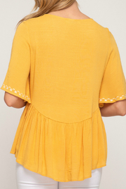 She & Sky  babydoll woven top - Front full body