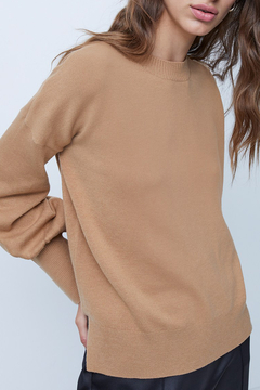 French Connection Babysoft Balloon Sleeve Crewneck Sweater - Product List Image