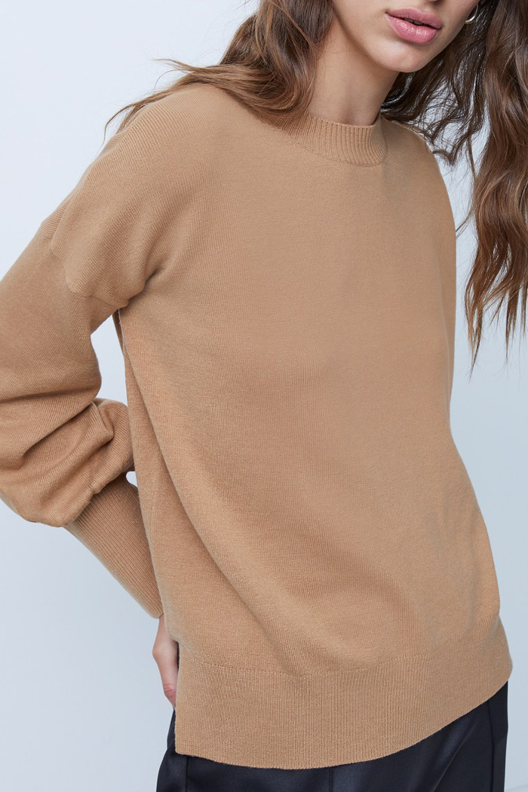 French Connection Babysoft Balloon Sleeve Crewneck Sweater - Main Image