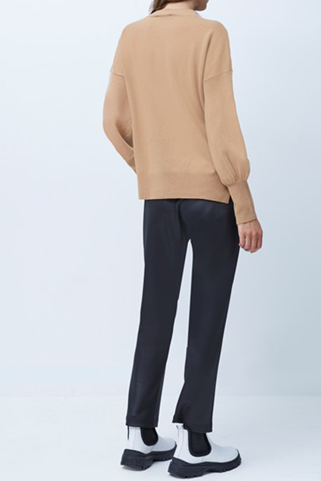 French Connection Babysoft Balloon Sleeve Crewneck Sweater - Front Full Image