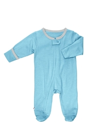 Babysoy Ocean Zipper Footie - Product Mini Image