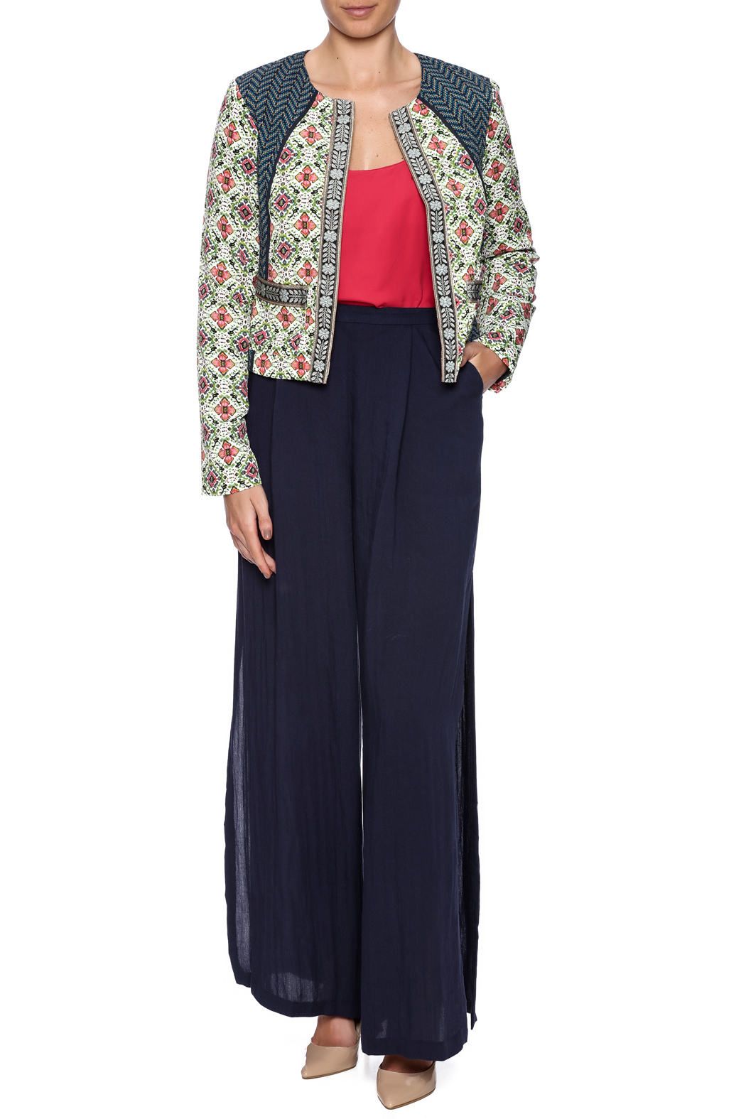 Baccini Soft Cropped Jacket - Front Full Image