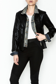 Baci Alligator Denim Jacket - Product Mini Image