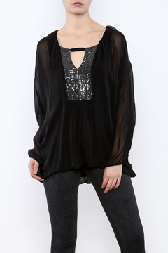 Shoptiques Product: Black Sparkle Top
