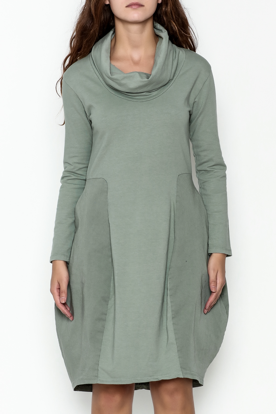 Baci Cowl Neck Dress - Front Full Image