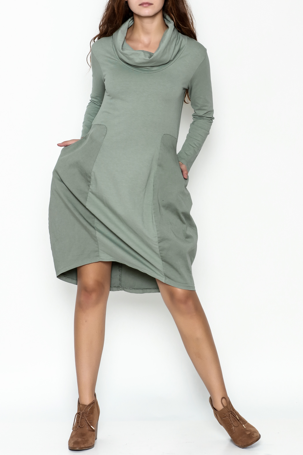 Baci Cowl Neck Dress - Side Cropped Image