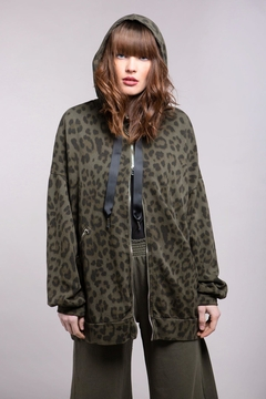 Baci Oversized Leopard Hoodie - Product List Image