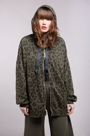 Baci Oversized Leopard Hoodie - Front cropped