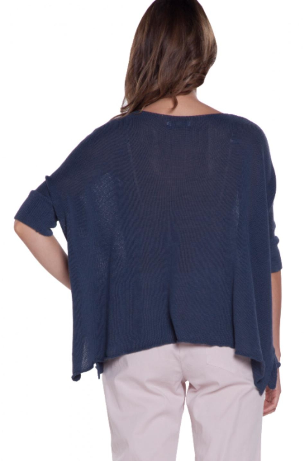 Baci V-Neck Relaxed Sweater - Front Full Image