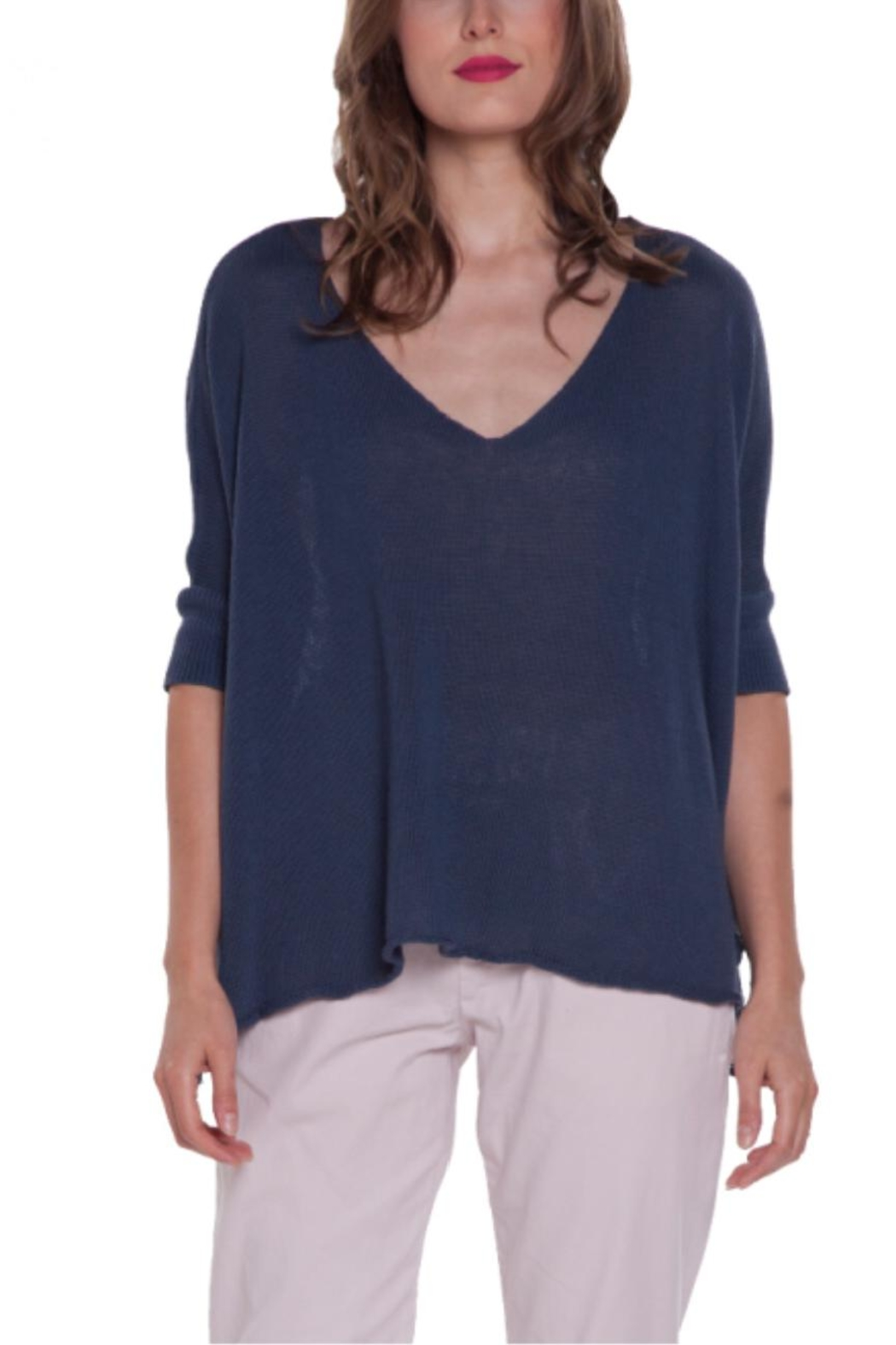 Baci V-Neck Relaxed Sweater - Front Cropped Image
