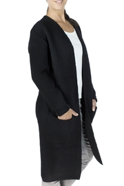 Baciano Black Cardigan Coat - Product Mini Image