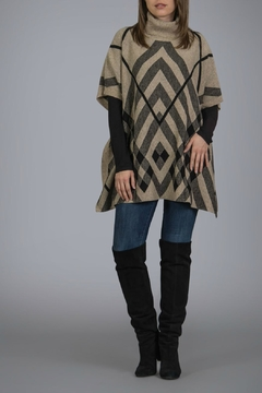 Shoptiques Product: Black and Tan Poncho