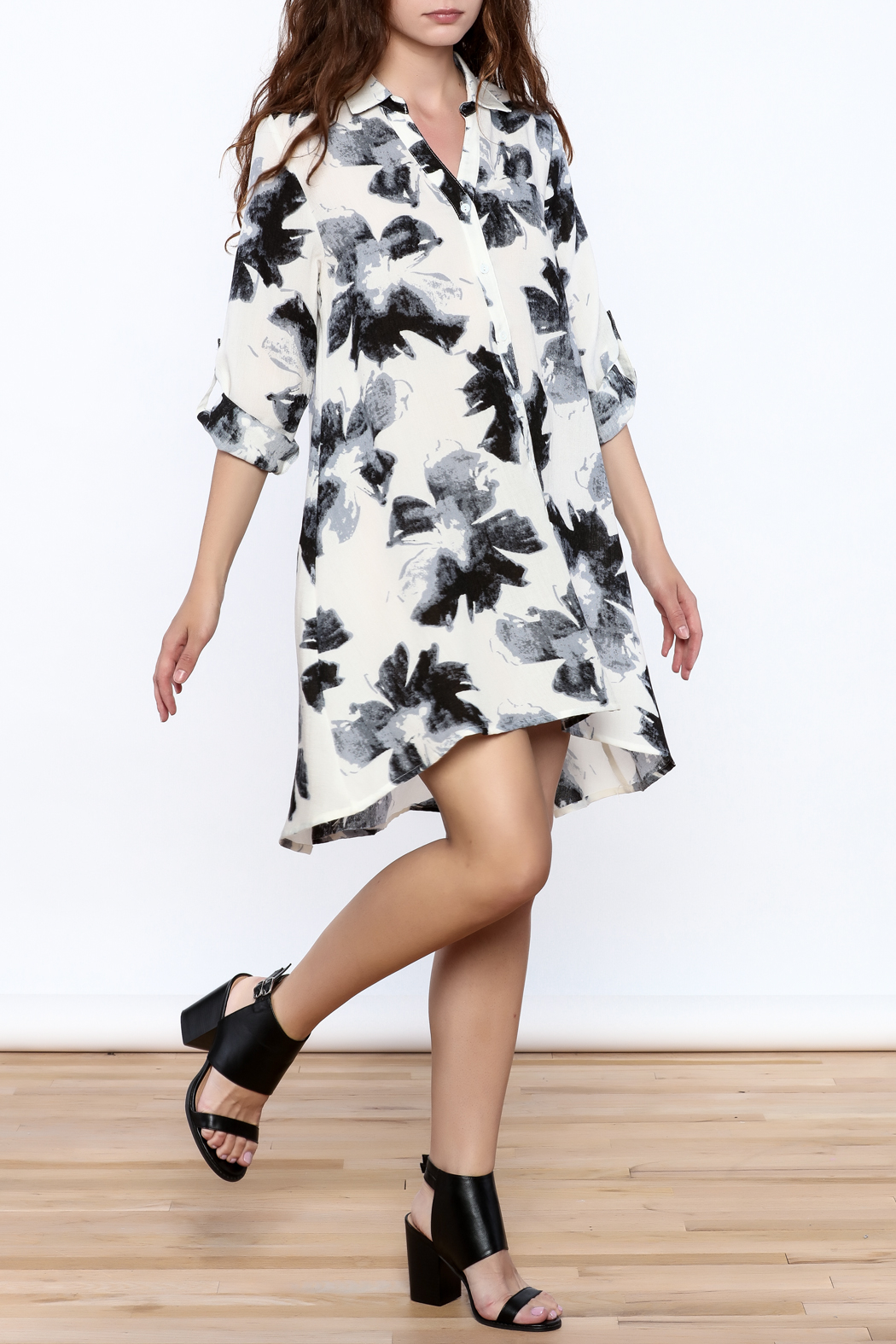 Baciano Flowered Dress - Front Full Image