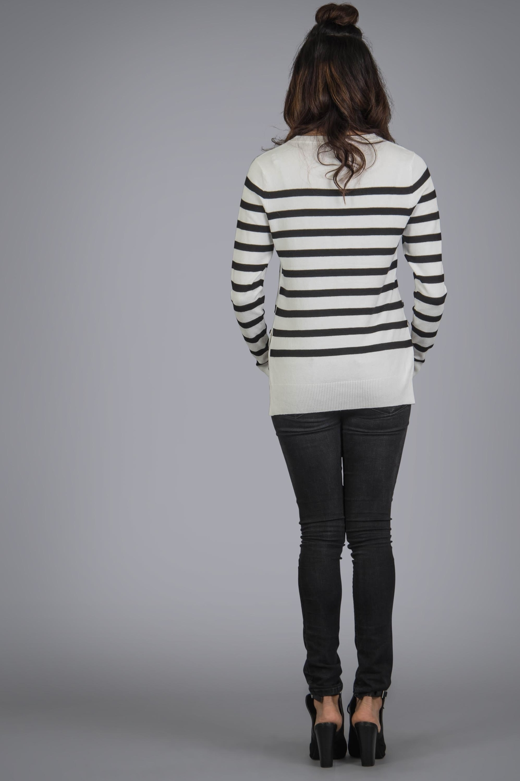 Baciano Pacific Stripe Top - Front Full Image