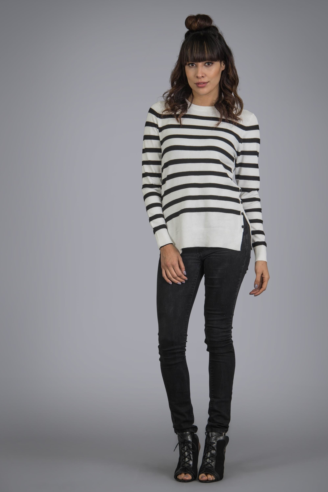 Baciano Pacific Stripe Top - Front Cropped Image
