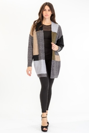 Baciano Patchwork Open Cardigan - Front cropped