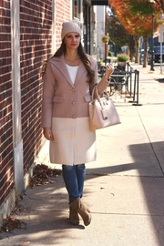 Baciano Pink Trench Coat - Front cropped