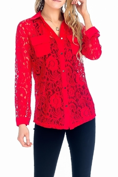 Baciano Presley Lace Top - Product List Image